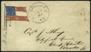 Sale Number 850, Lot Number 5862, Stampless Patriotic Covers (by state)Edgefield C.H. S.C. Jan. 20, Edgefield C.H. S.C. Jan. 20