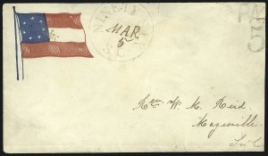 Sale Number 850, Lot Number 5863, Stampless Patriotic Covers (by state)Ninety Six S.C. Mar. 5, Ninety Six S.C. Mar. 5