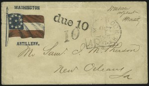Sale Number 850, Lot Number 5870, Stampless Patriotic Covers (by state)Tudor Hall Va. Oct. 1, Tudor Hall Va. Oct. 1