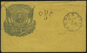 Sale Number 850, Lot Number 5871, Stampless Patriotic Covers (by state)Tudor Hall Va. Mar. 5, 1862, Tudor Hall Va. Mar. 5, 1862