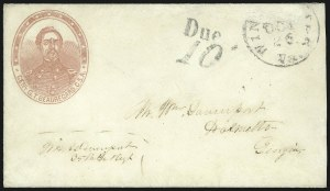 Sale Number 850, Lot Number 5872, Stampless Patriotic Covers (by state)Winchester Va. Oct. 26, Winchester Va. Oct. 26