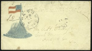 Sale Number 850, Lot Number 5874, Stampless Patriotic Covers (by state)Yorktown Va. Apr. 21, 1862, Yorktown Va. Apr. 21, 1862