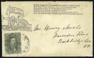 Sale Number 850, Lot Number 5878, General Issues on Patriotic Covers5c Green, Stone 1 (1), 5c Green, Stone 1 (1)