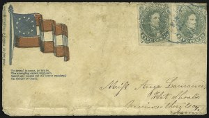 Sale Number 850, Lot Number 5879, General Issues on Patriotic Covers5c Green, Stone 1-2 (1), 5c Green, Stone 1-2 (1)