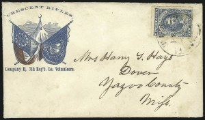 Sale Number 850, Lot Number 5881, General Issues on Patriotic Covers10c Dark Blue, Hoyer & Ludwig (2b), 10c Dark Blue, Hoyer & Ludwig (2b)