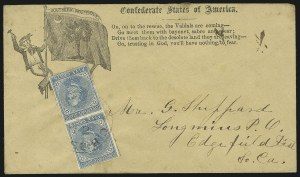 Sale Number 850, Lot Number 5884, General Issues on Patriotic Covers5c Blue, Local (7), 5c Blue, Local (7)
