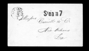 Sale Number 850, Lot Number 5920, Waterway CoversNew Orleans La. Jul. 22, 1861, New Orleans La. Jul. 22, 1861