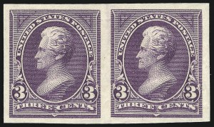 Sale Number 851, Lot Number 222, 1894-98 Bureau Issues (Scott 246 - 263)3c Purple, Imperforate (253a), 3c Purple, Imperforate (253a)