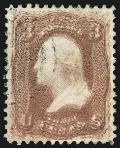 Sale Number 851, Lot Number 71, 1861-66 Issue (Scott 62B to 68)3c Rose, Double Impression (65f), 3c Rose, Double Impression (65f)