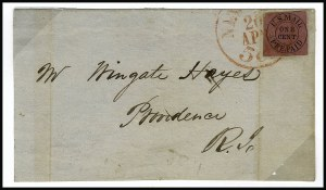 Sale Number 853, Lot Number 2565, Carrier Department IssuesU.S. Mail, New York N.Y., 1c Black on Rose, Buff (6LB9-6LB10), U.S. Mail, New York N.Y., 1c Black on Rose, Buff (6LB9-6LB10)