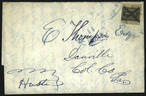 Sale Number 853, Lot Number 2646, Locals (Boutons thru Cummings)G. Carter's Despatch, Philadelphia Pa., 2c Black (36L1), G. Carter's Despatch, Philadelphia Pa., 2c Black (36L1)