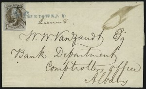 Sale Number 863, Lot Number 219, 1847 Issue On Cover5c Red Brown (1), 5c Red Brown (1)