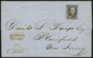 Sale Number 863, Lot Number 220, 1847 Issue On Cover5c Red Brown (1), 5c Red Brown (1)