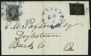 Sale Number 863, Lot Number 221, 1847 Issue On Cover5c Red Brown (1), 5c Red Brown (1)