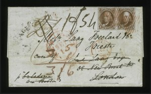 Sale Number 863, Lot Number 226, 1847 Issue On Cover5c Orange Brown (1b), 5c Orange Brown (1b)
