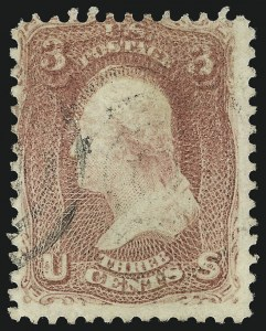 Sale Number 863, Lot Number 312, 1861-66 Issue (Scott 62a to 70b)3c Rose, Double Impression (65f), 3c Rose, Double Impression (65f)