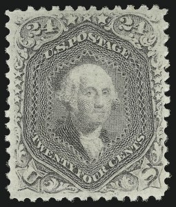Sale Number 863, Lot Number 327, 1861-66 Issue (Scott 72 to 78a)24c Lilac (78), 24c Lilac (78)
