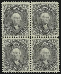Sale Number 863, Lot Number 328, 1861-66 Issue (Scott 72 to 78a)24c Grayish Lilac (78a), 24c Grayish Lilac (78a)