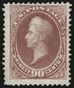 Sale Number 863, Lot Number 434, 1870-88 Bank Note Issues (Scott 134 to 144)90c Carmine, Grill (144), 90c Carmine, Grill (144)