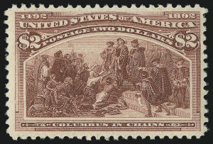 Sale Number 863, Lot Number 510, 1893 Columbian Issue (Scott 233a to 245)$2.00 Columbian (242). Mint N.H, $2.00 Columbian (242). Mint N.H