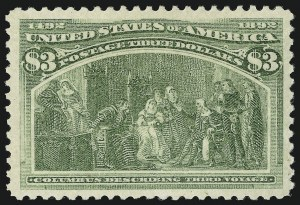 Sale Number 863, Lot Number 511, 1893 Columbian Issue (Scott 233a to 245)$3.00 Columbian (243), $3.00 Columbian (243)