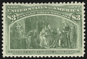 Sale Number 863, Lot Number 512, 1893 Columbian Issue (Scott 233a to 245)$3.00 Columbian (243), $3.00 Columbian (243)