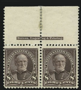 Sale Number 863, Lot Number 523, 1894-98 Bureau Issues (Scott 255c to 282C)8c Violet Brown, USIR Watermark (272a), 8c Violet Brown, USIR Watermark (272a)