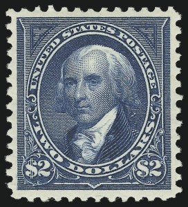 Sale Number 863, Lot Number 526, 1894-98 Bureau Issues (Scott 255c to 282C)$2.00 Bright Blue (277). Mint N.H, $2.00 Bright Blue (277). Mint N.H
