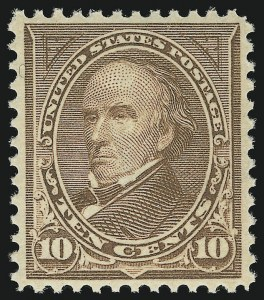 Sale Number 863, Lot Number 528, 1894-98 Bureau Issues (Scott 255c to 282C)10c Brown, Ty. I (282C). Mint N.H, 10c Brown, Ty. I (282C). Mint N.H