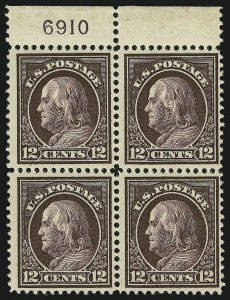Sale Number 865, Lot Number 1283, Washington-Franklin Issues (Scott 405 to 423)12c Claret Brown (417), 12c Claret Brown (417)