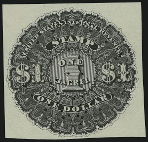 Sale Number 865, Lot Number 2089, Wine and Beer Stamps1866, $1.00 Black, 1bbl., Beer Stamp (REA5), 1866, $1.00 Black, 1bbl., Beer Stamp (REA5)