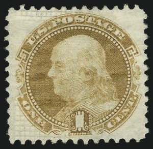 Sale Number 865, Lot Number 500, 1869 Pictorial Issue (1c-3c)1c Buff, Split Grill (112 var), 1c Buff, Split Grill (112 var)