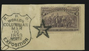 Sale Number 865, Lot Number 793, 1893 Columbian Issue (1c to 4c)2c Columbian (231), 2c Columbian (231)
