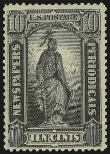 Sale Number 866, Lot Number 459, Newspapers and Periodicals10c Black, 1879 Issue (PR62). Mint N.H, 10c Black, 1879 Issue (PR62). Mint N.H