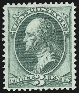 Sale Number 866, Lot Number 77, 1870-88 Bank Note Issues (Scott 135 to 155)3c Green, Grill (136). Mint N.H, 3c Green, Grill (136). Mint N.H