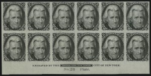 Sale Number 867, Lot Number 1020, 2-Cent Black Jack Issue (Large Die and Plate Proofs)2c Black, Die I, Plate Proof on India (73P3), 2c Black, Die I, Plate Proof on India (73P3)