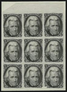 Sale Number 867, Lot Number 1021, 2-Cent Black Jack Issue (Large Die and Plate Proofs)2c Black, Die I, Plate Proof on India (73P3), 2c Black, Die I, Plate Proof on India (73P3)