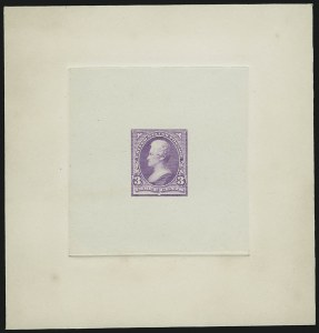Sale Number 867, Lot Number 1265, 1894-95 3-Cent Bureau Issue3c Light Red Violet, Ty. II, Large Die Trial Color Proof on India (253ATC1), 3c Light Red Violet, Ty. II, Large Die Trial Color Proof on India (253ATC1)