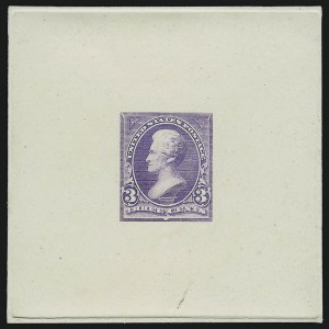 Sale Number 867, Lot Number 1266, 1894-95 3-Cent Bureau Issue3c Light Red Violet, Large Die Trial Color Proof on India (253TC1), 3c Light Red Violet, Large Die Trial Color Proof on India (253TC1)