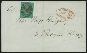 Sale Number 868, Lot Number 2073, BoydBoyd's City Express, New York N.Y., 2c Black on Bluish Green (20L3), Boyd's City Express, New York N.Y., 2c Black on Bluish Green (20L3)