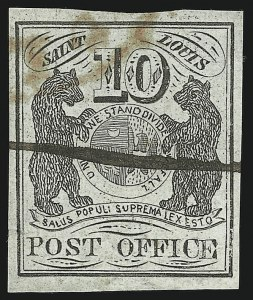 Sale Number 869, Lot Number 3008, Postmasters ProvisionalsSt. Louis Mo., 10c Black on Greenish (11X2), St. Louis Mo., 10c Black on Greenish (11X2)
