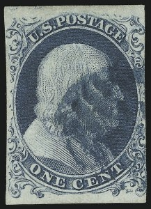 Sale Number 869, Lot Number 3020, 1851-56 Issue1c Blue, Ty. Ia (6), 1c Blue, Ty. Ia (6)