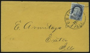 Sale Number 869, Lot Number 3021, 1851-56 Issue1c Blue, Ty. Ia (6), 1c Blue, Ty. Ia (6)
