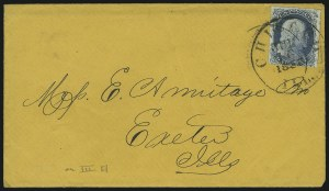 Sale Number 869, Lot Number 3022, 1851-56 Issue1c Blue, Ty. Ia (6), 1c Blue, Ty. Ia (6)