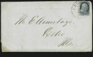 Sale Number 869, Lot Number 3023, 1851-56 Issue1c Blue, Ty. II, Chicago Perf 12-1/2 (7 var), 1c Blue, Ty. II, Chicago Perf 12-1/2 (7 var)