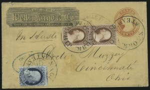 Sale Number 869, Lot Number 3027, 1851-56 Issue1c Blue, Ty. IV, 3c Dull Red (9, 11), 1c Blue, Ty. IV, 3c Dull Red (9, 11)