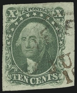 Sale Number 869, Lot Number 3033, 1851-56 Issue10c Green, Ty. I (13), 10c Green, Ty. I (13)