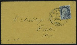 Sale Number 869, Lot Number 3036, 1857-60 Issue1c Blue, Ty. Ia (19), 1c Blue, Ty. Ia (19)