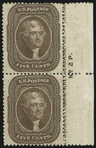 Sale Number 869, Lot Number 3040, 1857-60 Issue5c Brown, Ty. II (30A), 5c Brown, Ty. II (30A)