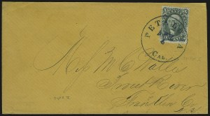 Sale Number 869, Lot Number 3041, 1857-60 Issue10c Green, Ty. I (31), 10c Green, Ty. I (31)